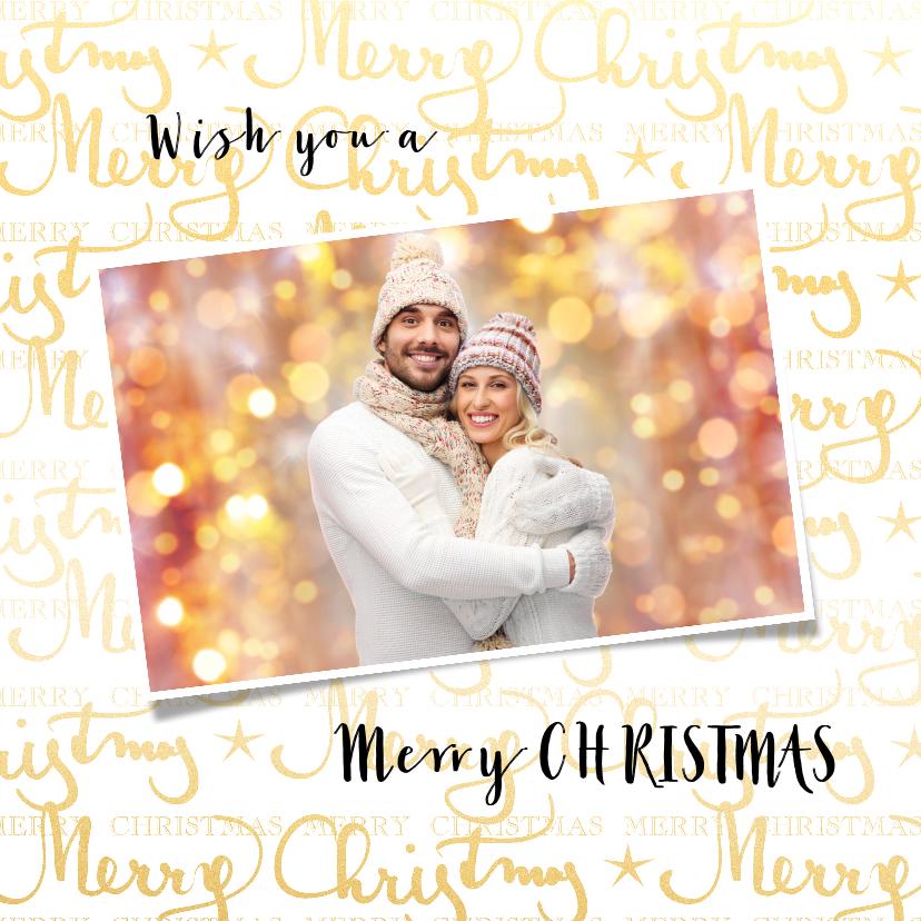 Kerstkaarten - Kerstkaart Merry Christmas met eigen foto