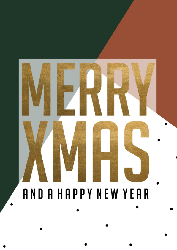 Kerstkaarten - Kerstkaart | Merry Xmas and a happy new year | Groen/rood