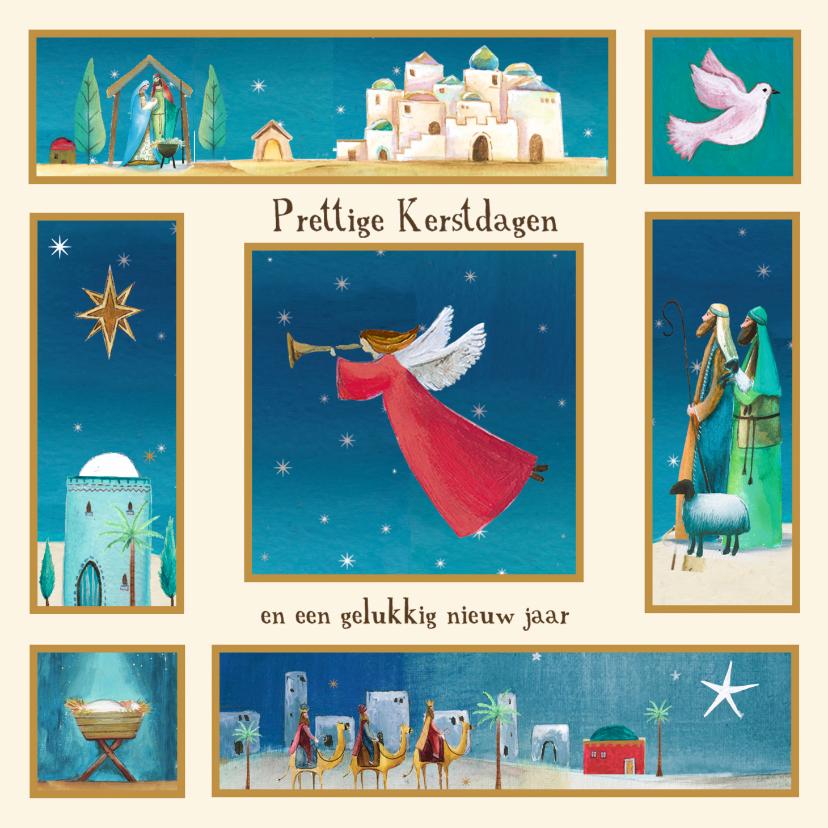 Kerstkaarten - Kerstkaart met bijbelse illustraties