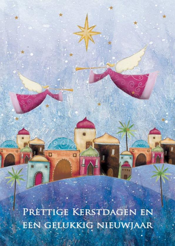 Kerstkaarten - Kerstkaart met engelen