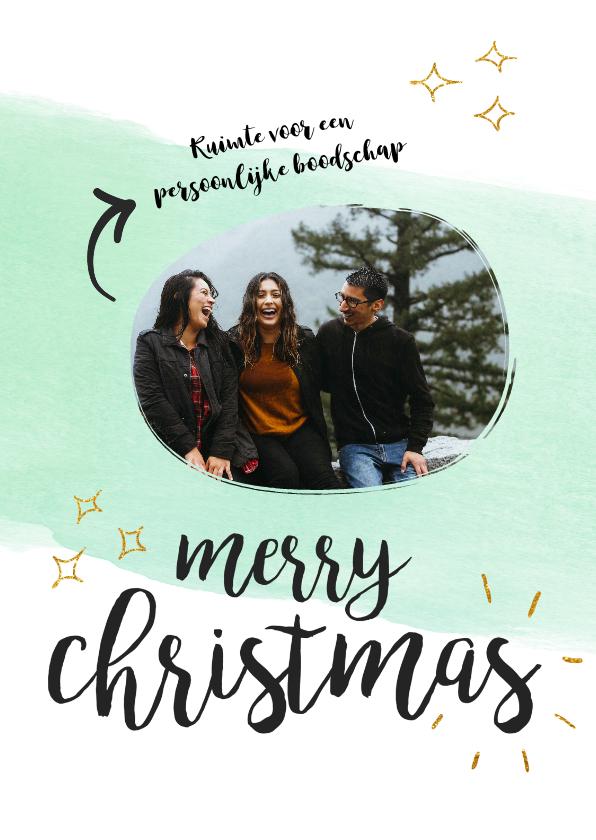 Kerstkaarten - Kerstkaart met foto en persoonlijke boodschap