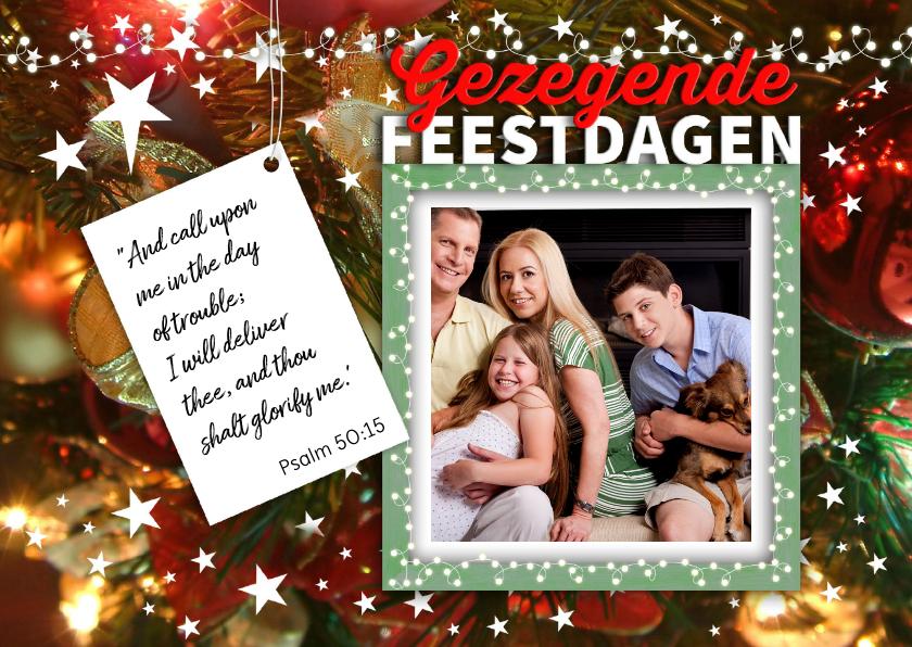 Kerstkaarten - Kerstkaart met foto en psalm
