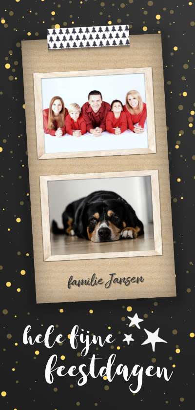 Kerstkaarten - Kerstkaart met foto langwerpig