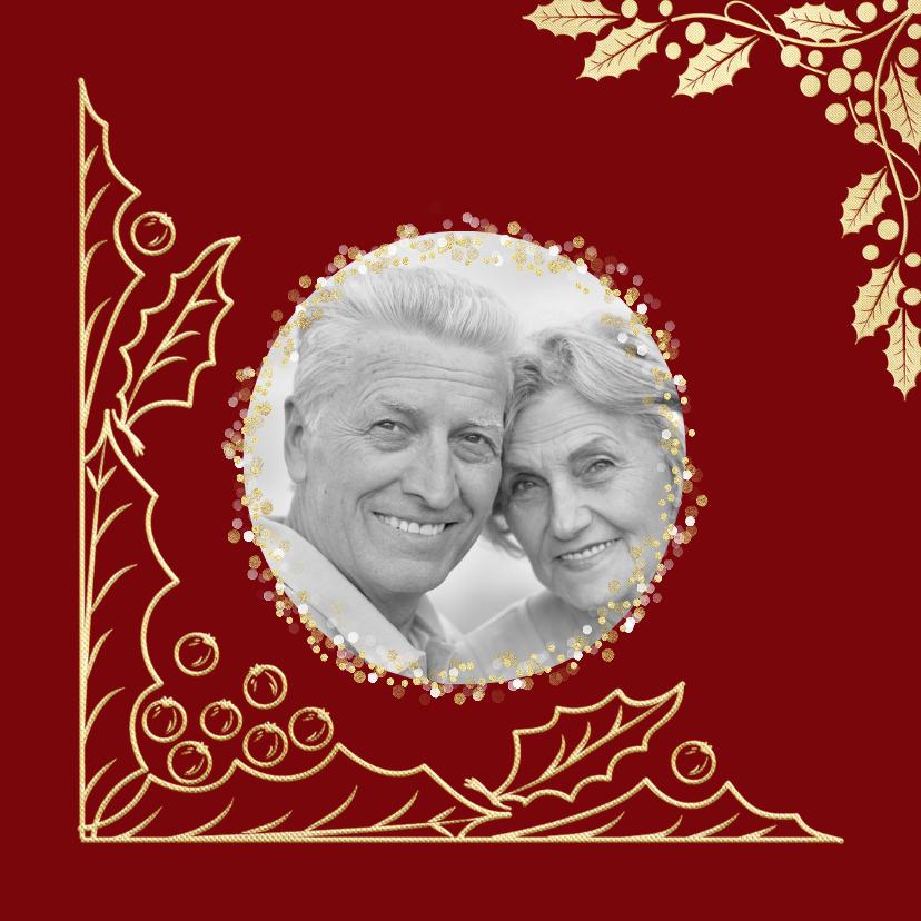 Kerstkaarten - Kerstkaart met goud