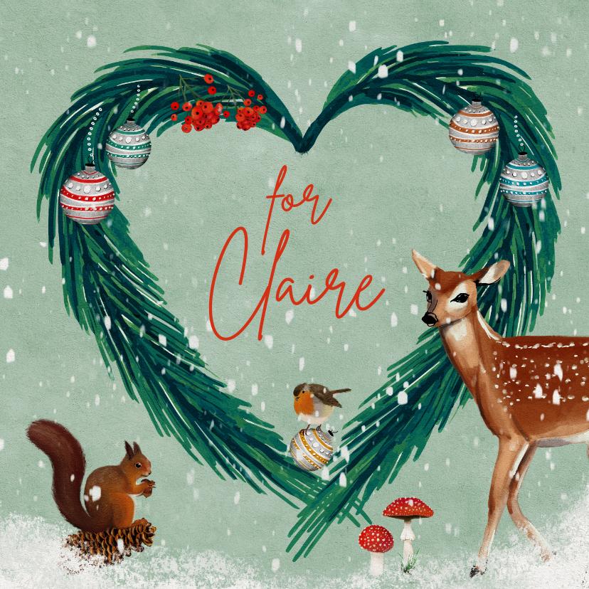 Kerstkaarten - Kerstkaart met hart