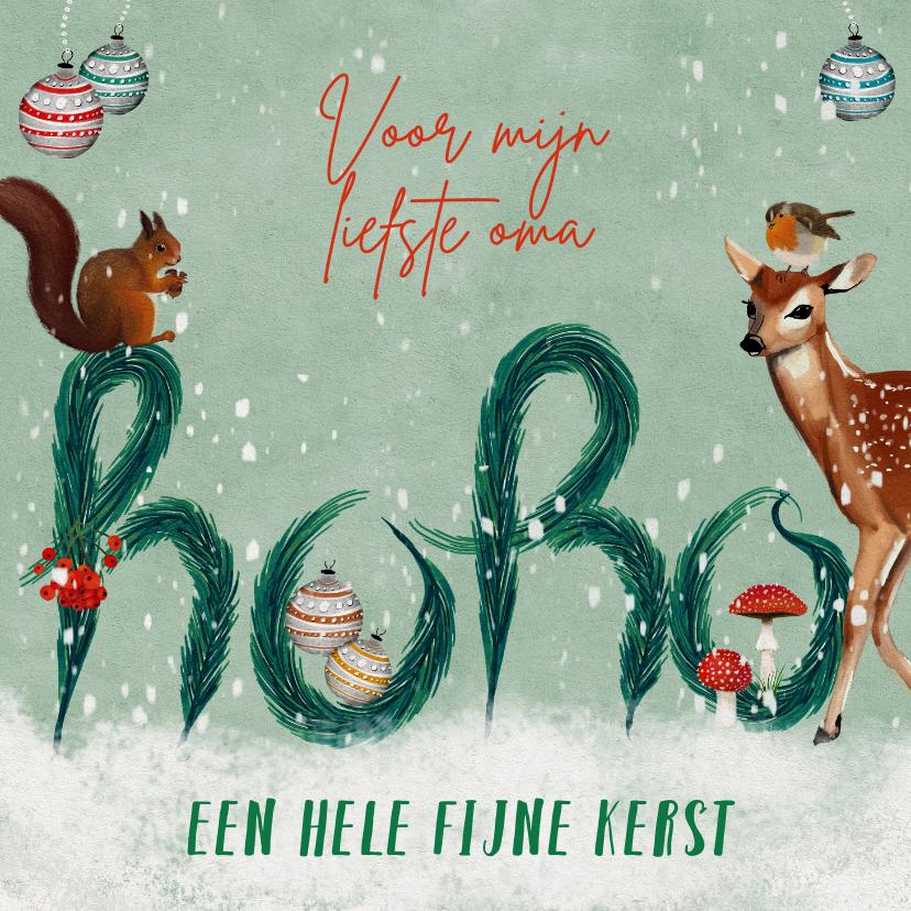 Kerstkaarten - Kerstkaart met HOHO