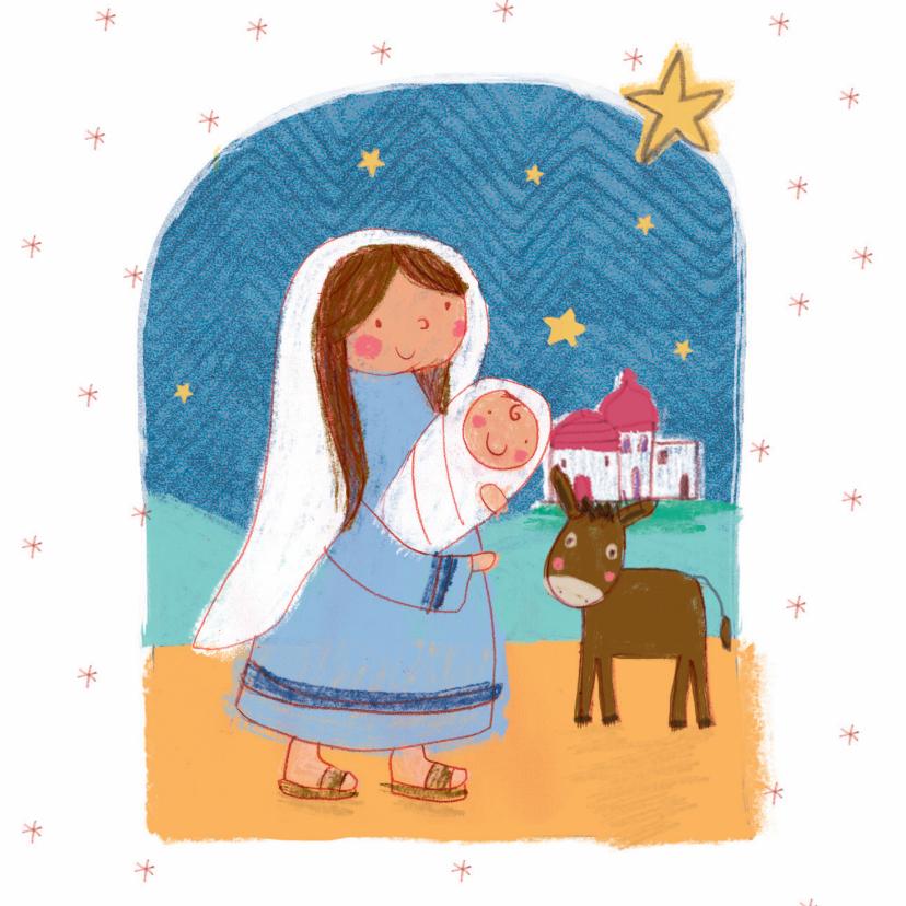 Kerstkaarten - Kerstkaart met kindeke Jezus