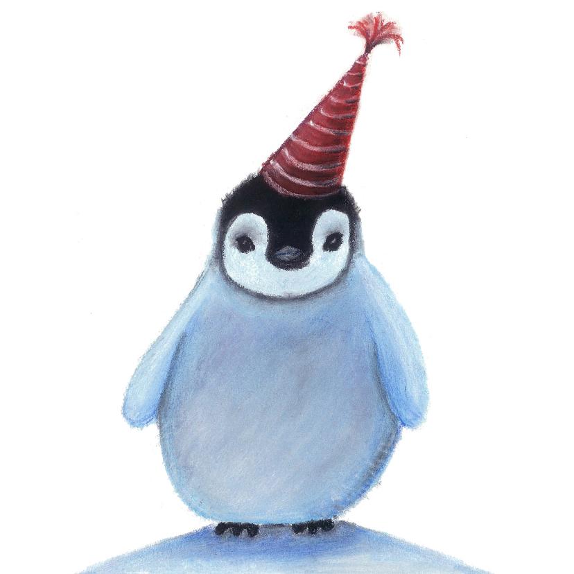 Kerstkaarten - Kerstkaart met lieve pinguin