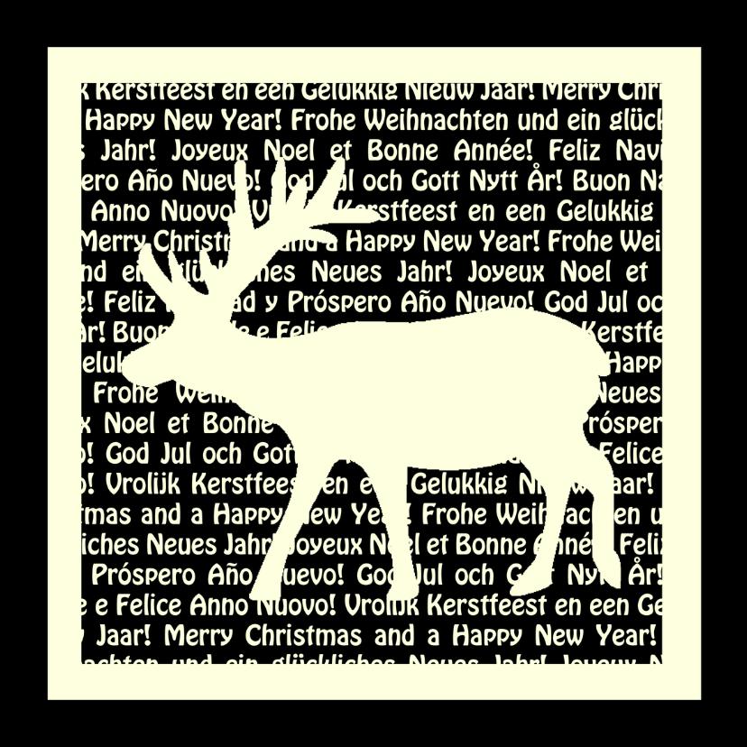 Kerstkaarten - Kerstkaart met rendier en tekst