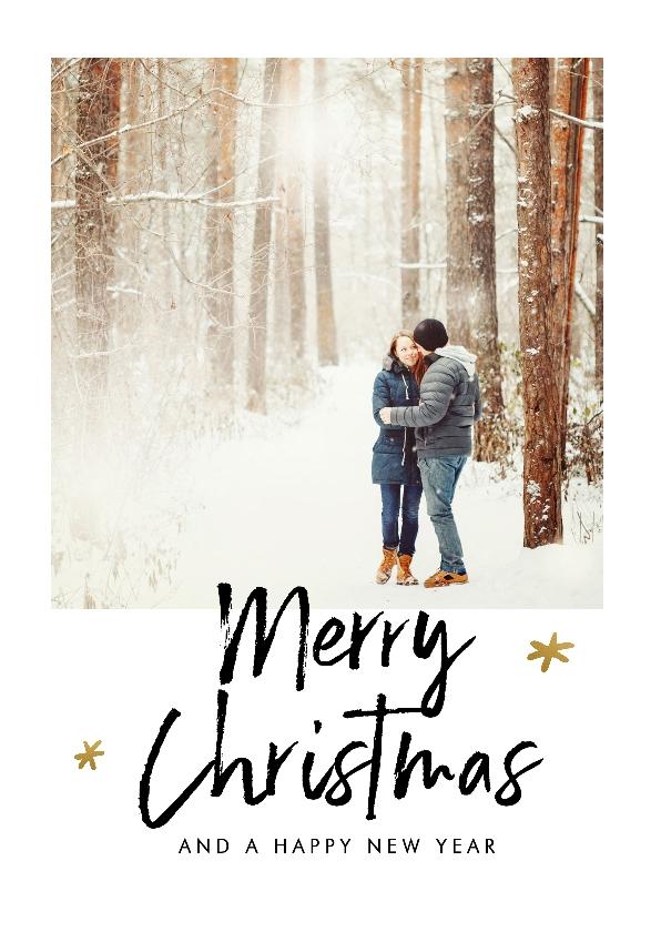 Kerstkaarten - Kerstkaart met speelse teksten en een eigen foto