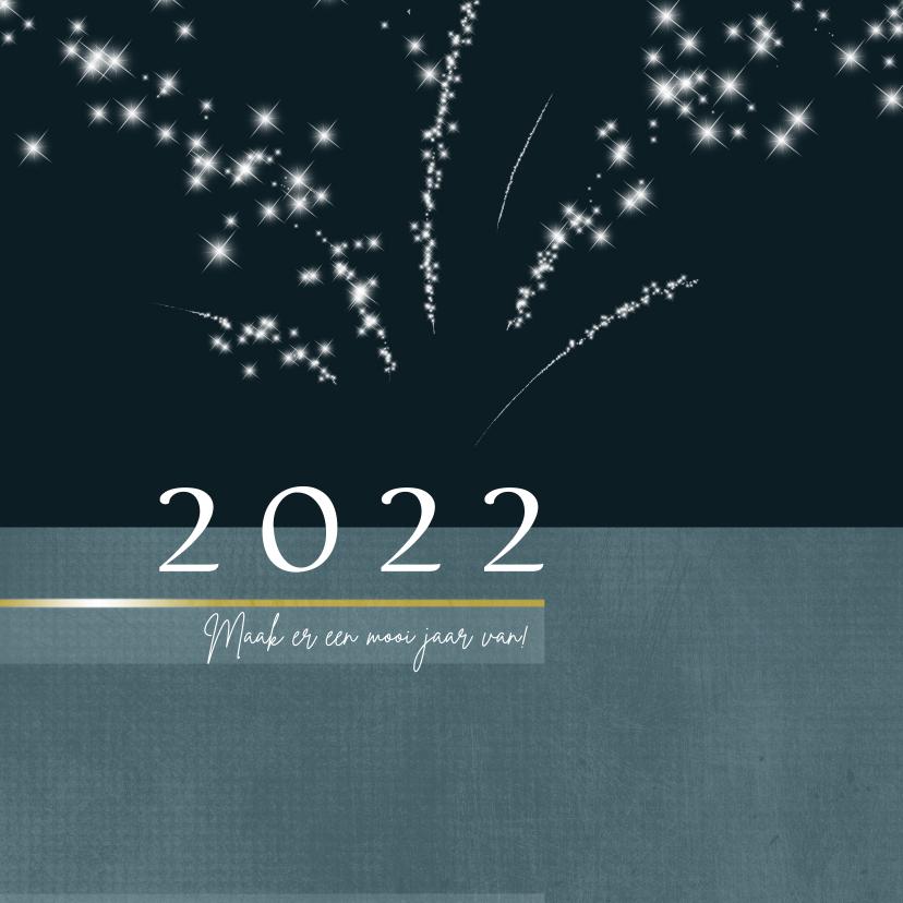 Kerstkaarten - Kerstkaart met sterretjes vuurwerk 2021-2022