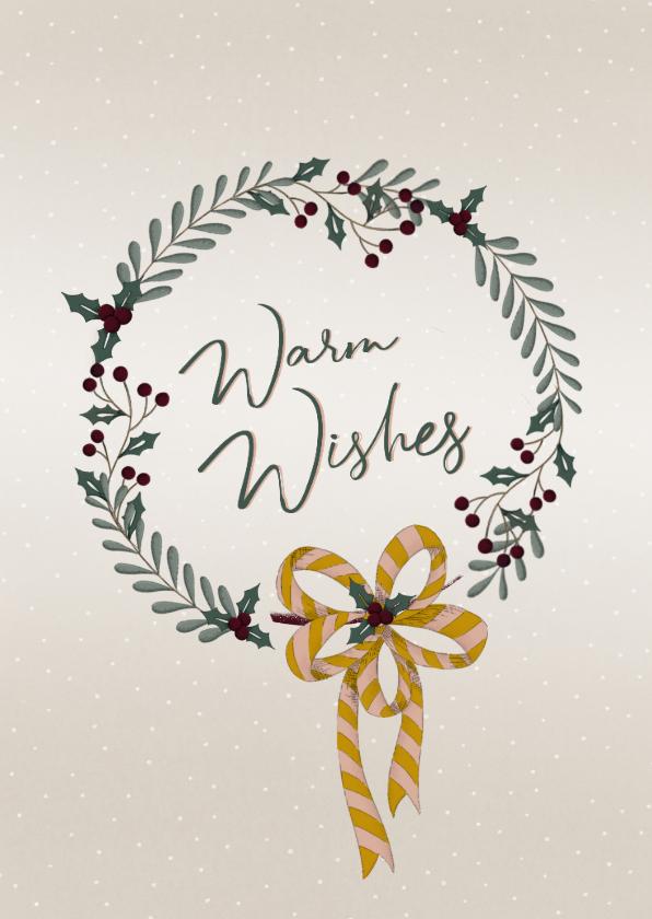 Kerstkaarten - Kerstkaart met winterse krans