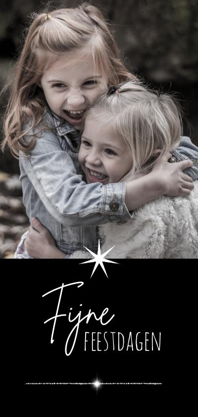 Kerstkaarten - Kerstkaart modern 2021-2022 foto en ster