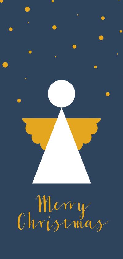 Kerstkaarten - Kerstkaart modern met engel