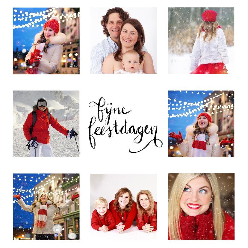 Kerstkaarten - Kerstkaart Nieuwjaar fotocollage