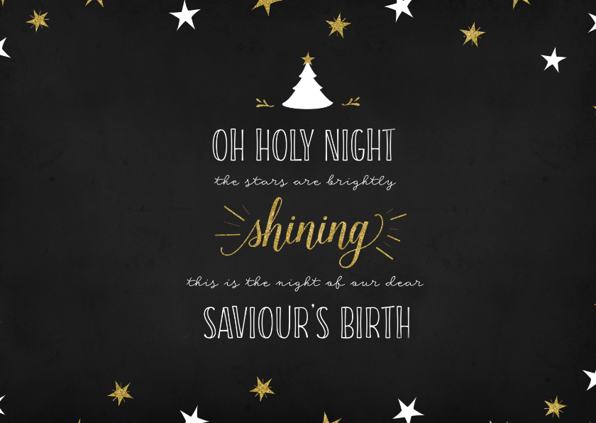 Kerstkaarten - Kerstkaart Oh holy night lyrics