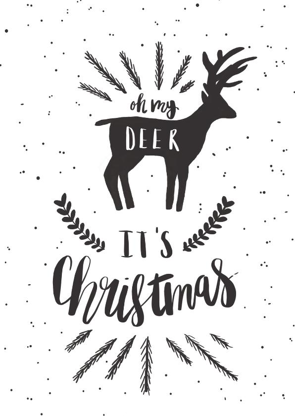 Kerstkaarten - Kerstkaart Oh my deer - HM