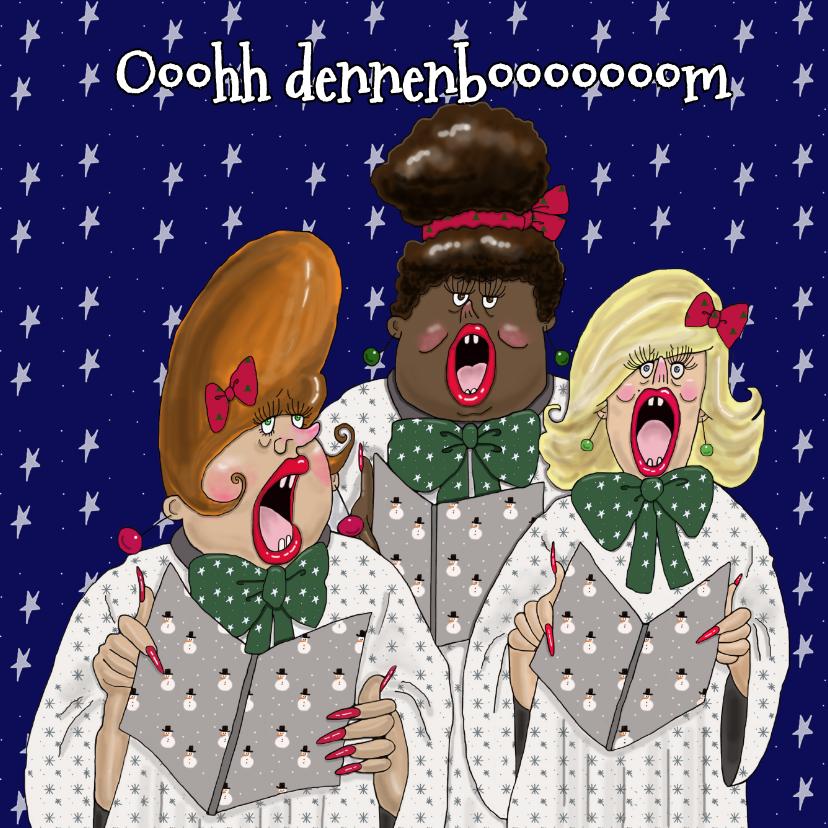 Kerstkaarten - Kerstkaart Ooh dennenboom
