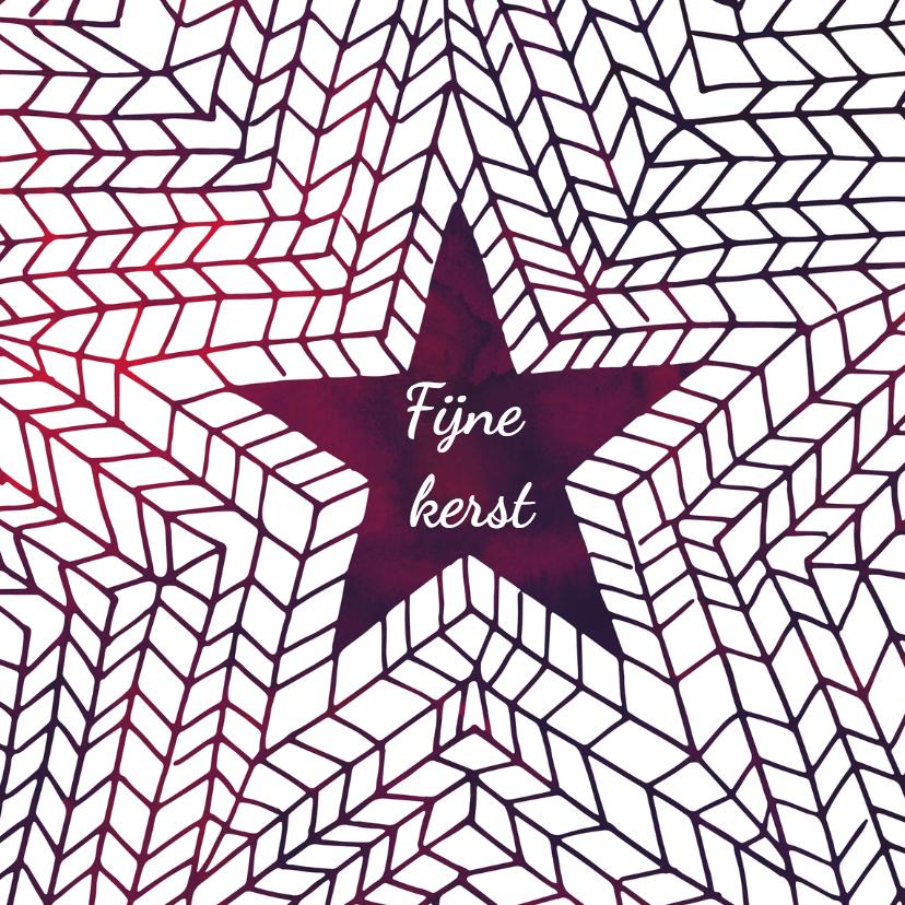 Kerstkaarten - Kerstkaart paarse ster