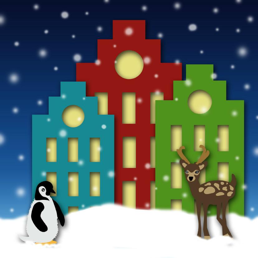 Kerstkaarten - Kerstkaart pakhuizen nacht-HR