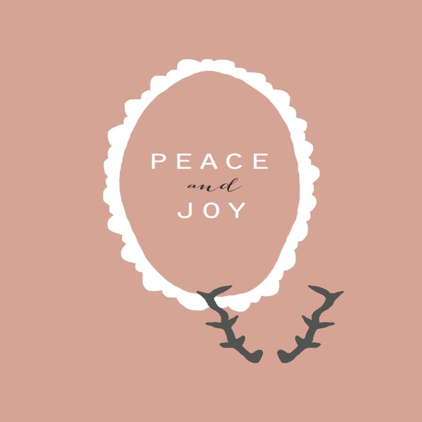 Kerstkaarten - Kerstkaart Peace and Joy
