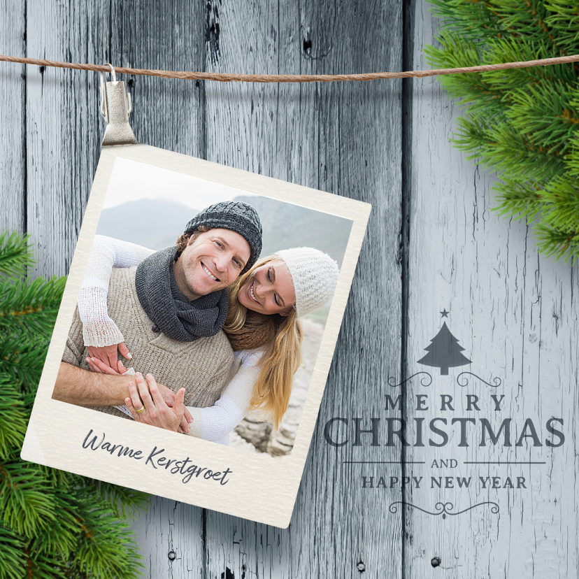 Kerstkaarten - Kerstkaart polaroid foto