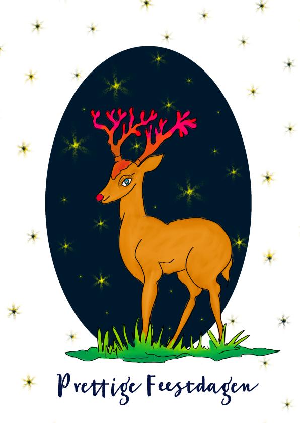 Kerstkaarten - Kerstkaart Rudolph Ster PA