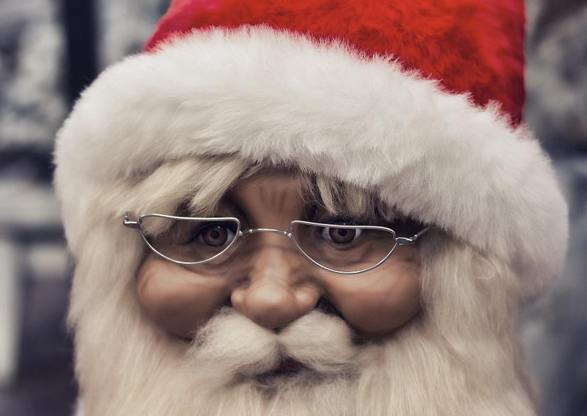 Kerstkaarten - kerstkaart Santa