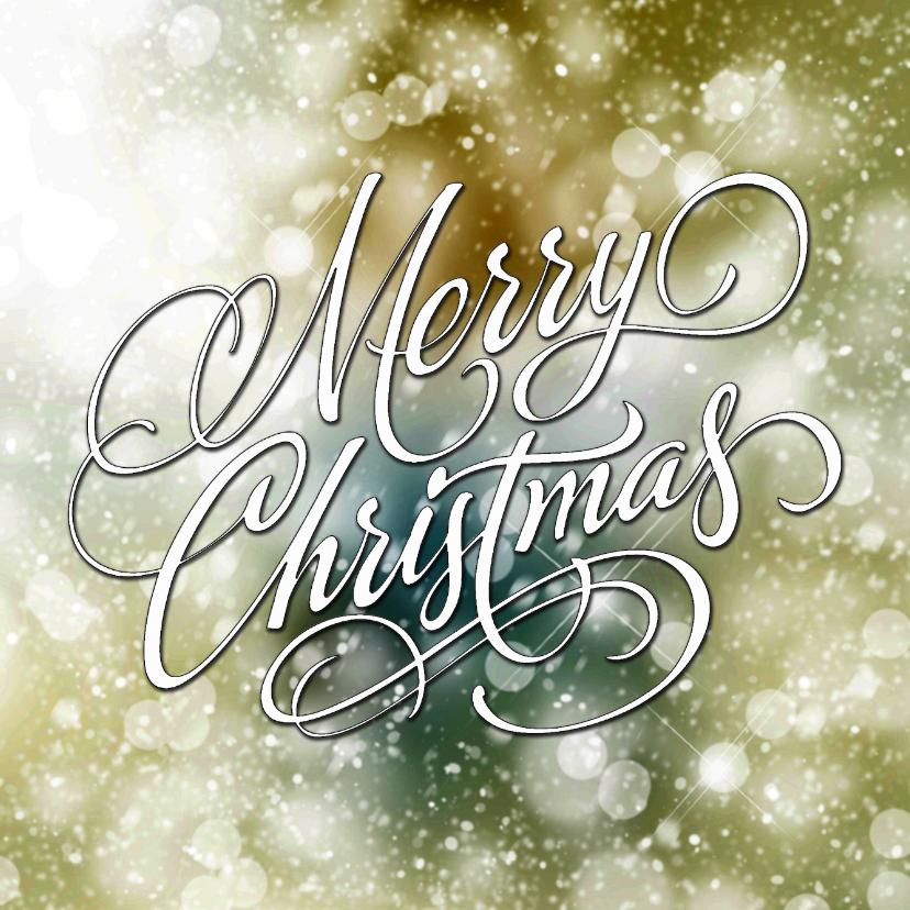 Kerstkaarten - Kerstkaart schitterend groen Merry Christmas
