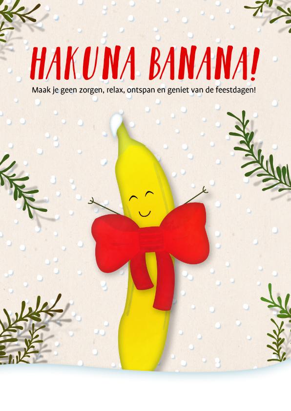 Kerstkaarten - Kerstkaart staand Hakuna Banana!