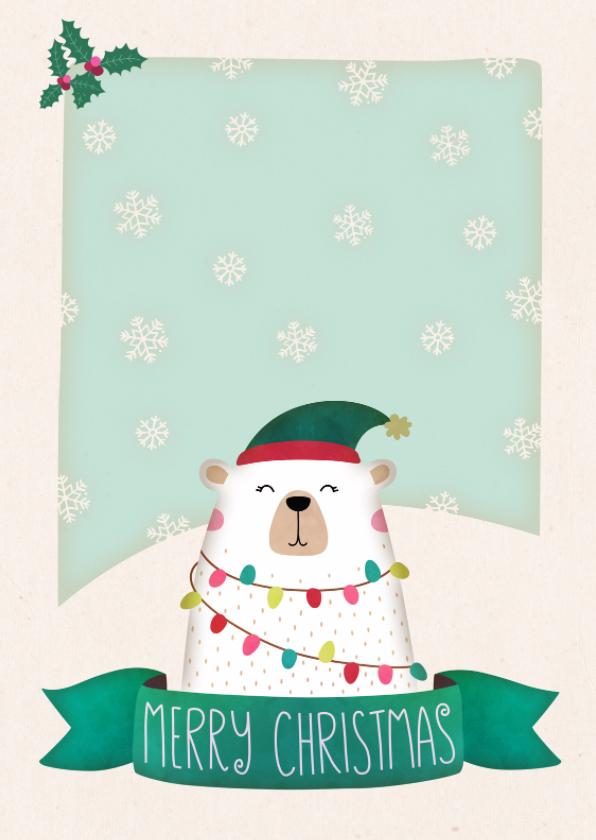 Kerstkaarten - Kerstkaart staand ijsbeer - BK