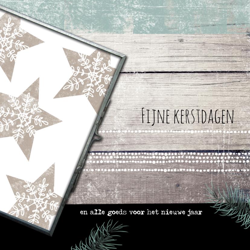 Kerstkaarten - Kerstkaart sterren fijne kerstdagen