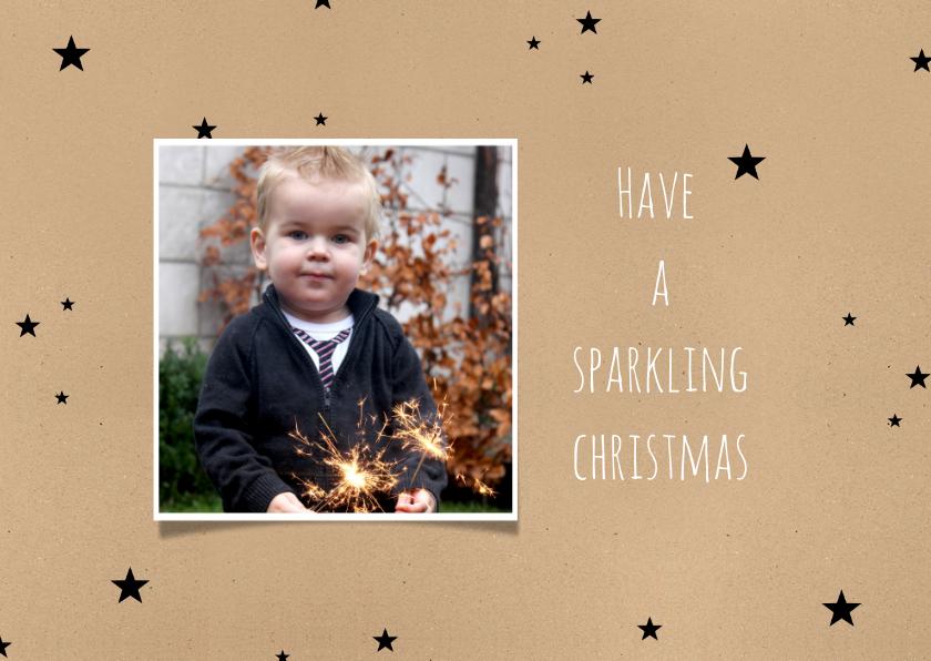 Kerstkaarten - Kerstkaart sterren sparkling -BC