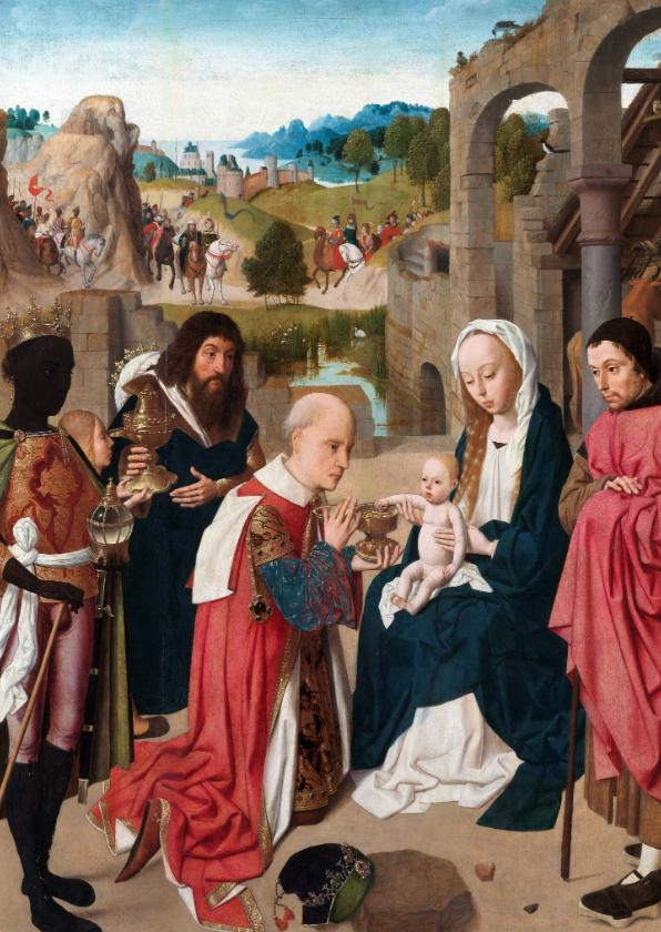 Kerstkaarten - Kerstkaart van Geertgen tot Sint Jans - De aanbidding