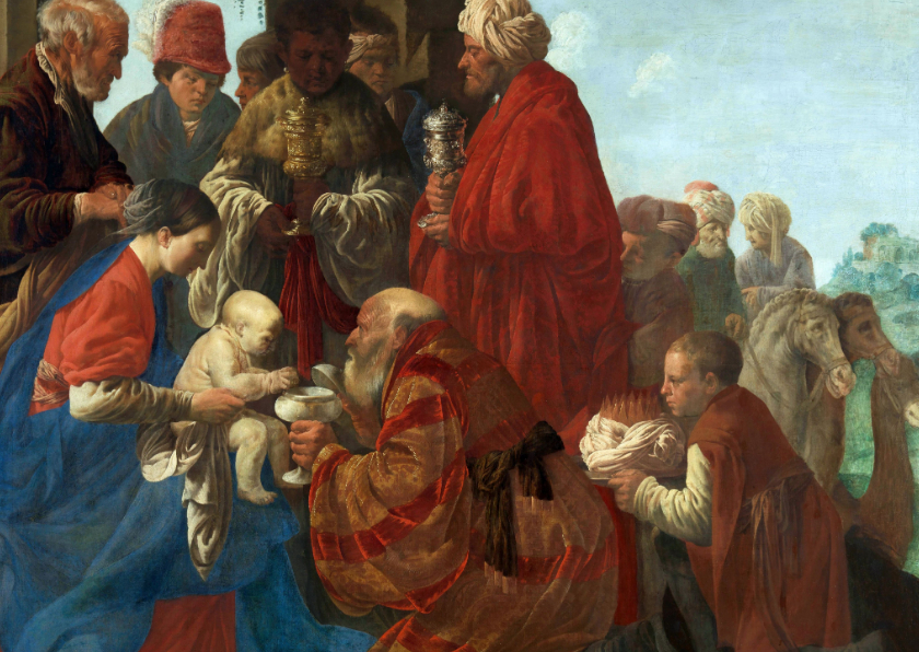 Kerstkaarten - Kerstkaart van Hendrick ter Brugghen - De aanbidding