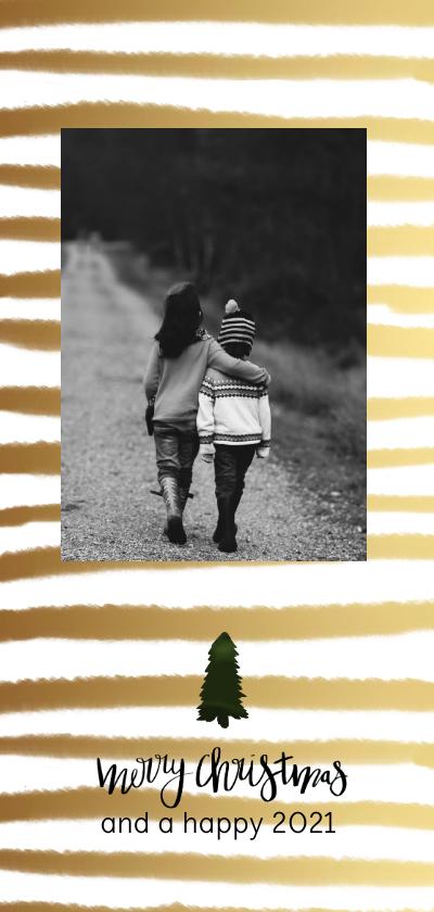 Kerstkaarten - Kerstkaart verf streep - HM