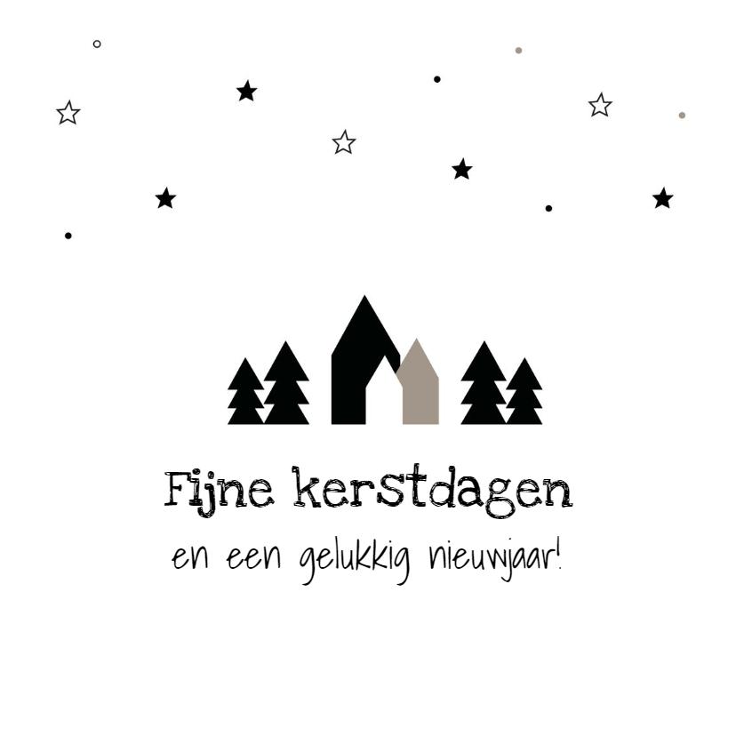 Kerstkaarten - Kerstkaart verzameling huisjes