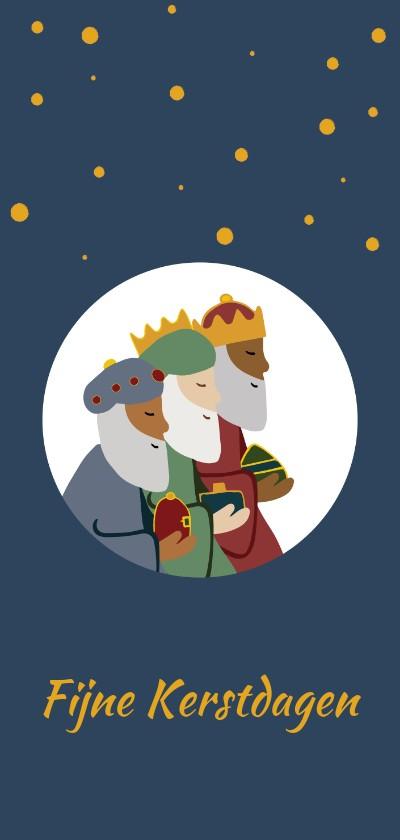 Kerstkaarten - Kerstkaart wijze uit het oosten & kerstverhaal