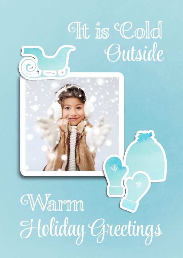 Kerstkaarten - Kerstkaart winterse warmte - SG