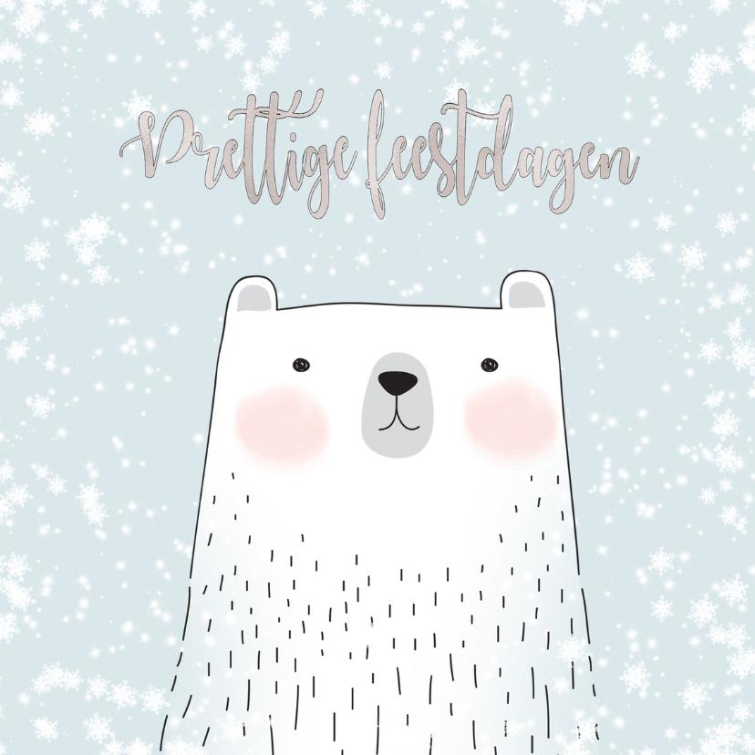 Kerstkaarten - Kerstkaart witte ijsbeer