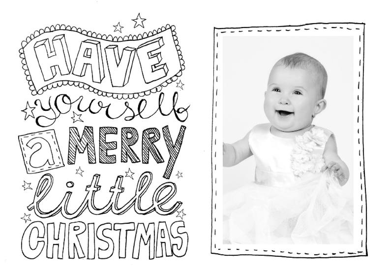 Kerstkaarten - Kerstkaart zwartwit tekst & foto