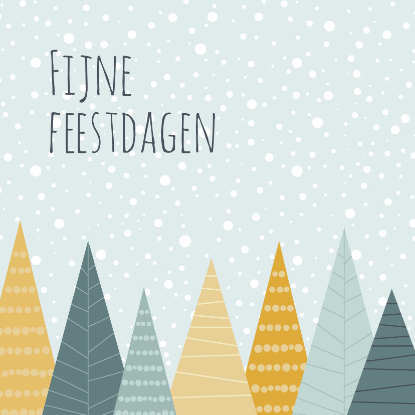 Kerstkaarten - Kerstkaartje illustratieve kerstbomen