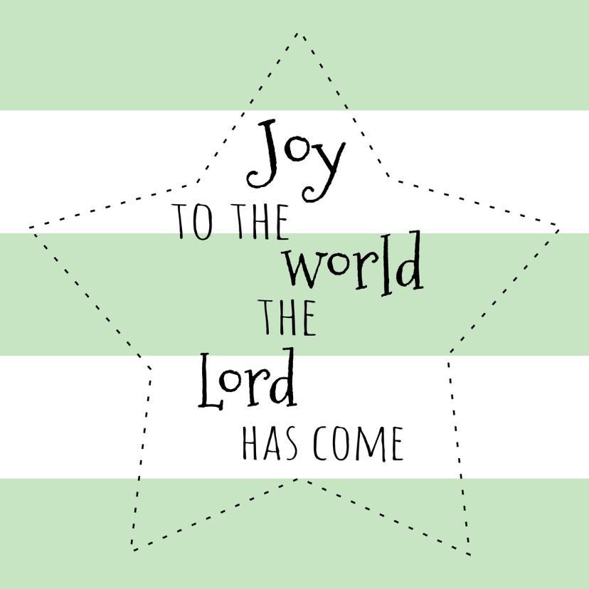 Kerstkaarten - Kerstkaartje Joy to the world-WW