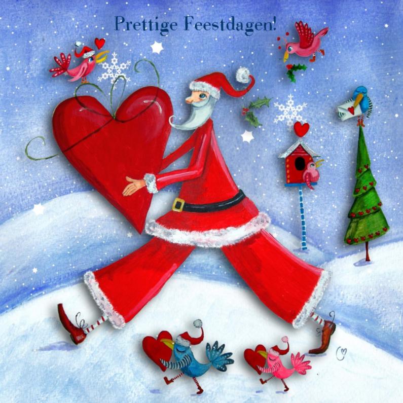 Kerstkaarten - Kerstman en Hartje by Cartita Design