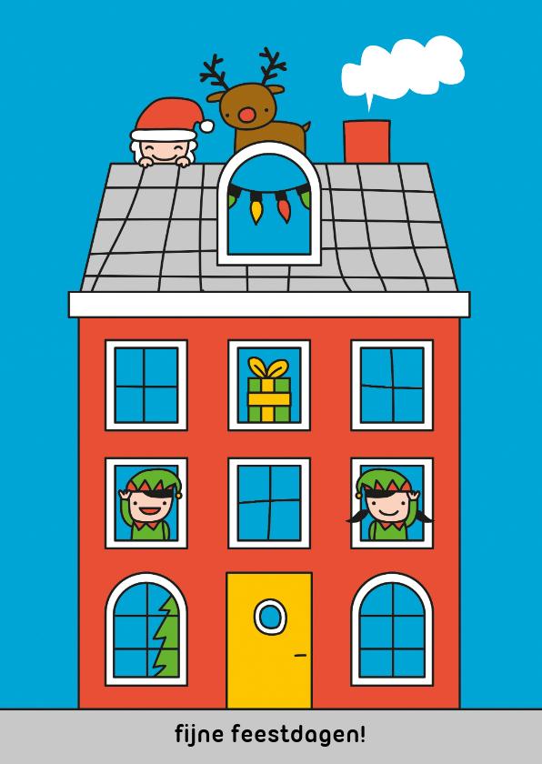 Kerstkaarten - Kerstmis huisje