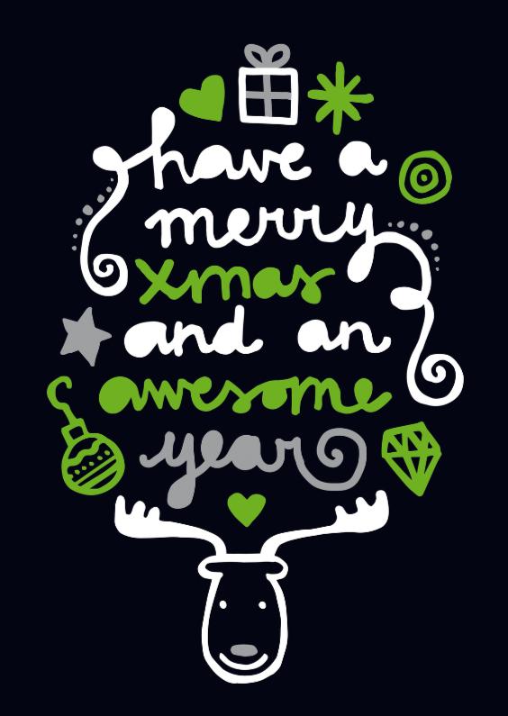 Kerstkaarten - Kerstmis Quote Rendier