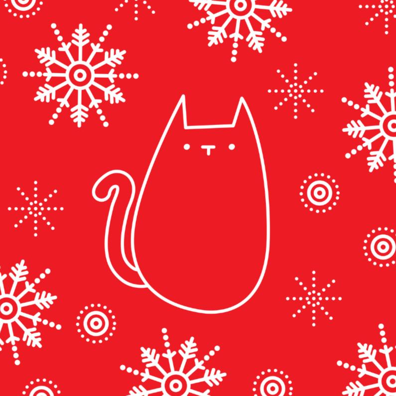 Kerstkaarten - Kerstmis Rode Kat