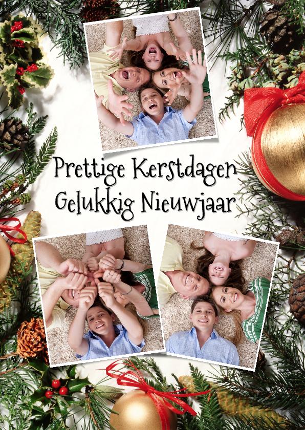 Kerstkaarten - Kerststuk collage 3 foto's