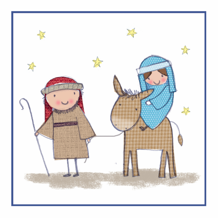 Kerstkaarten - Kinderkerstkaart Jozef en Maria