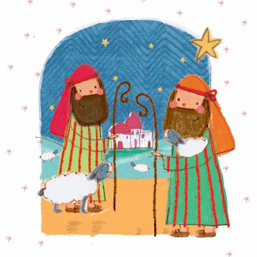 Kerstkaarten - Kinderkerstkaart met de herders
